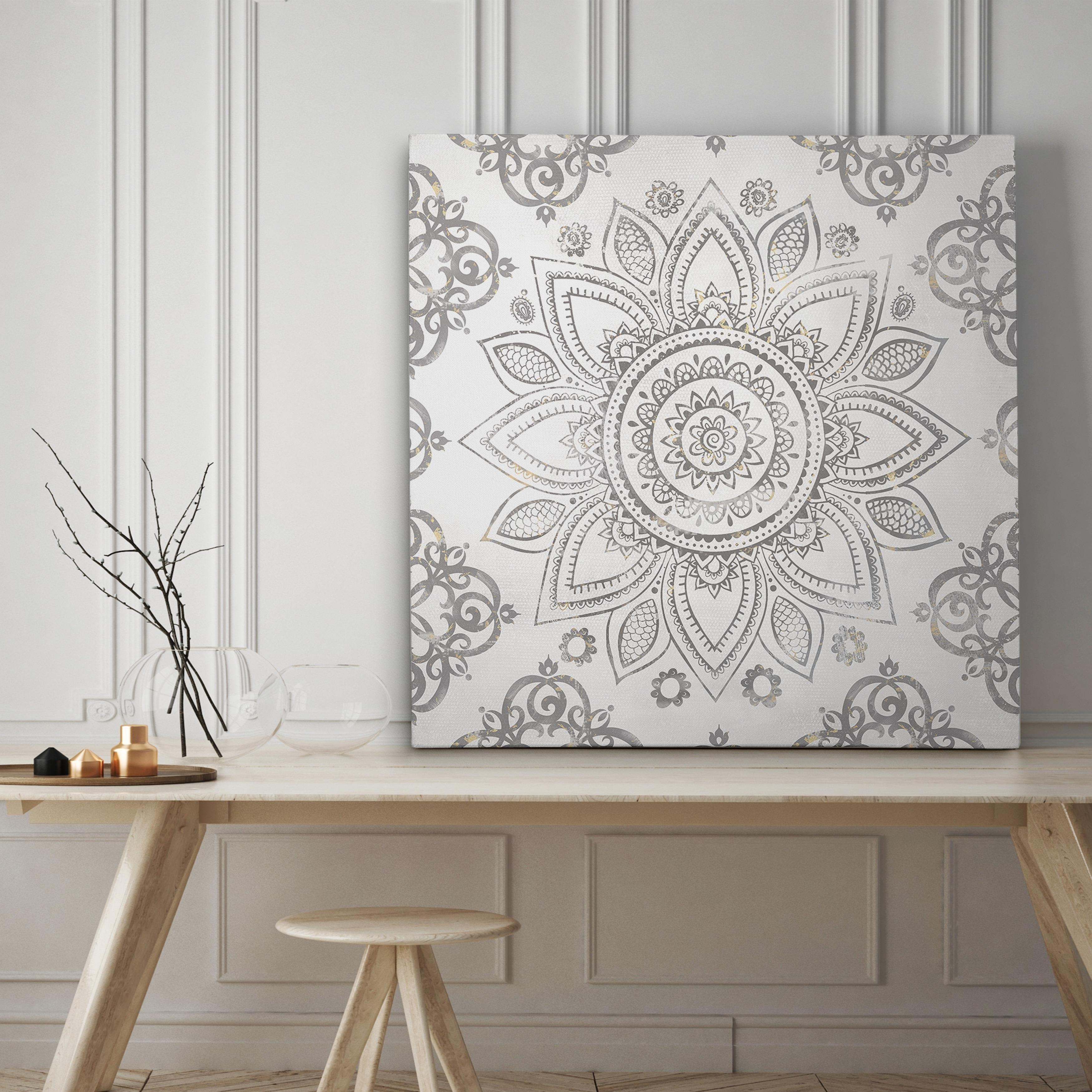 Wexford Home Mandala Sunburst - Premium Gallery Wrapped C...