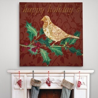 Dove and Holly - Premium Gallery Wrapped Canvas - 4 Sizes Available