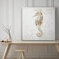 Soft Marble Seahorse - Premium Gallery Wrapped Canvas - 4 Sizes Available