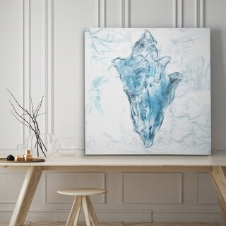 Blue Marble Coast Shell - Premium Gallery Wrapped Canvas - 4 Sizes Available