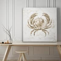 Soft Marble Coast Crab - Premium Gallery Wrapped Canvas - 4 Sizes Available