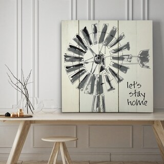 Let's Stay Home - Premium Gallery Wrapped Canvas - 4 Sizes Available