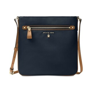 Michael Kors Kelsey Admiral Blue Nylon Large Crossbody Handbag
