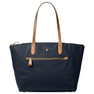 Michael Kors Kelsey Nylon Large Zip Tote in Admiral