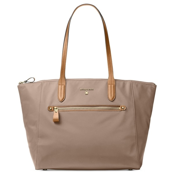 a850c639416c Shop Michael Michael Kors Kelsey Large Top-Zip Tote - Tan/Beige - Free  Shipping Today - Overstock - 18041296