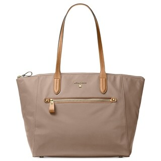 Michael Michael Kors Kelsey Large Top-Zip Tote - Tan/Beige