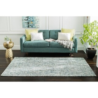 Jani Oshi Blue/Grey Wool Blend Rug - 8' x 10'