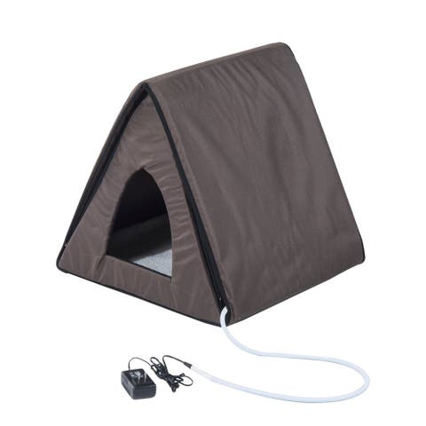 Pawhut Outdoor Heated and Unheated A frame Cat House
