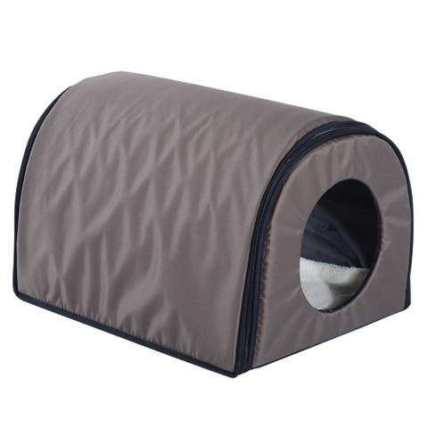 Pawhut Heated Outdoor Cat House
