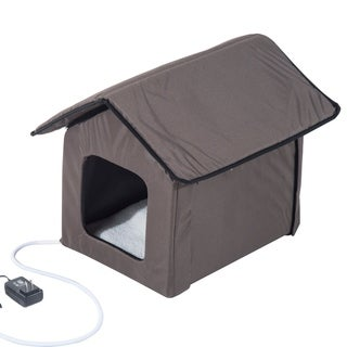 Pawhut Outdoor Heated Cat House