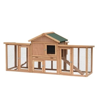 Pawhut Wooden Backyard Hen House Chicken Coop