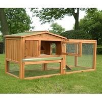 Pawhut Outdoor Guinea Pig Pet House and Rabbit Hutch Habitat with Run