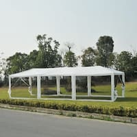 Outsunny Canopy Gazebo Party Tent with Mesh Side Walls