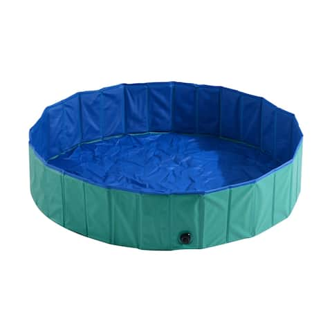 Pawhut Foldable PVC Pet Swimming Pool
