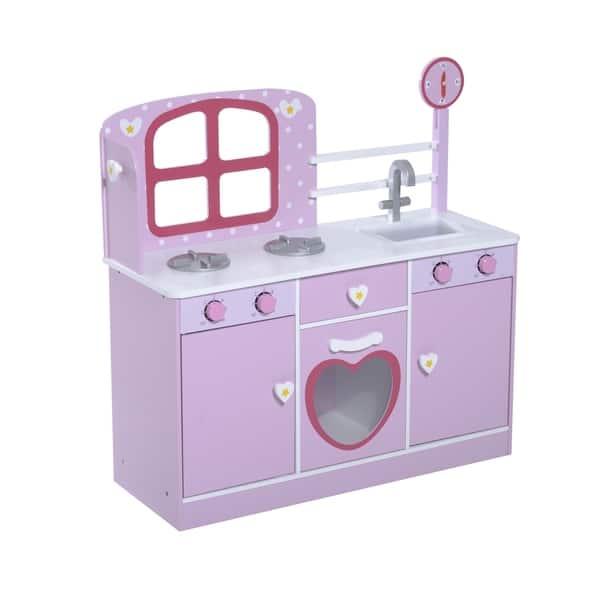 Shop Qaba Country Cottage Kids Kitchen Playset - Free ...