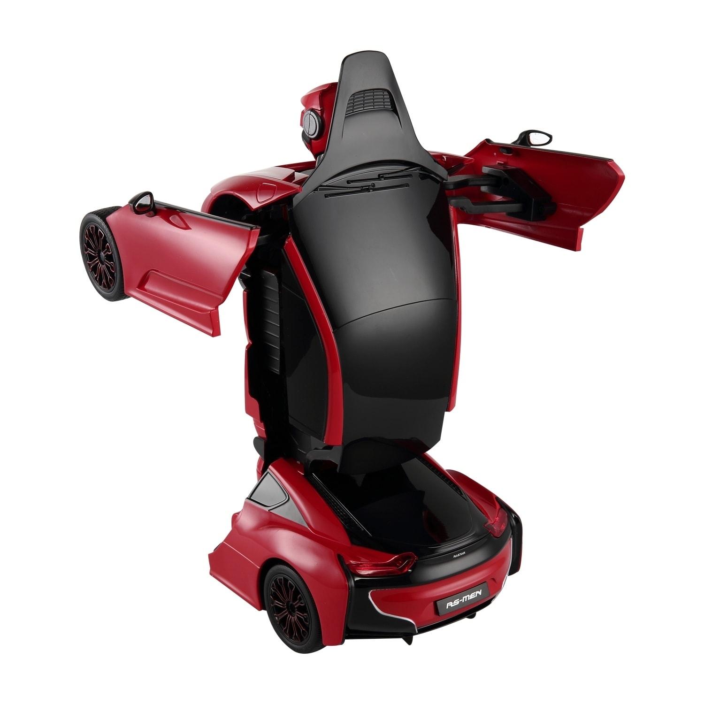 Aosom RC Remote Control Transforming Robot Car, Red