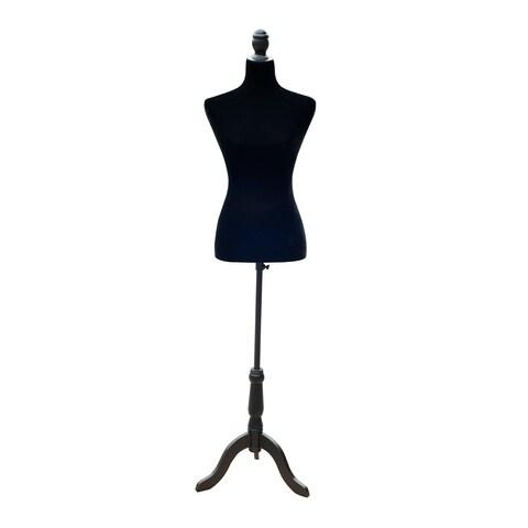 HomCom 36 - 27 - 36 Female Sewing Adjustable Mannequin Torso Dress Form With Tripod Base - Black