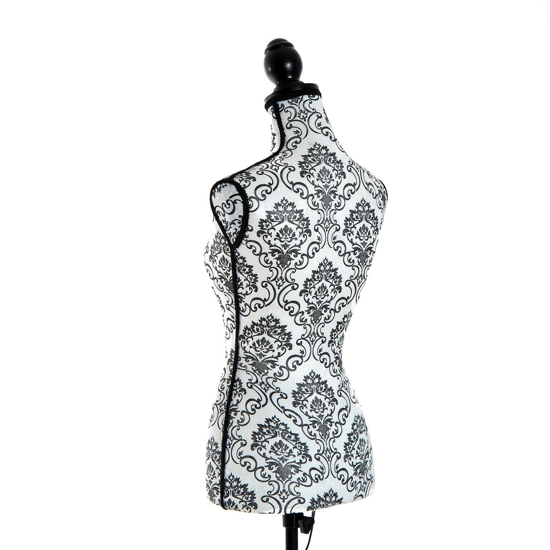 HomCom Fashion Mannequin Female Dress Form with Base, Bla...