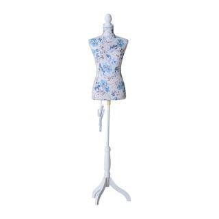 HomCom Fashion Mannequin LED Lit Female Dress Form with Base