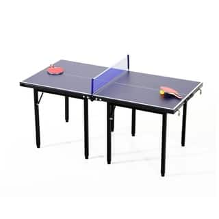 Aosom Folding Indoor or Outdoor Table Tennis Table Set|https://ak1.ostkcdn.com/images/products/18041483/P24207127.jpg?impolicy=medium