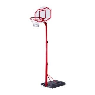 Aosom Curved Backboard Adjustable Portable Basketball Hoop