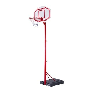 Aosom Curved Backboard Adjustable Portable Basketball Hoop