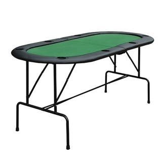 HomCom Oval Folding Blackjack and Poker Table with Eight Cup Holders|https://ak1.ostkcdn.com/images/products/18041486/P24207137.jpg?impolicy=medium