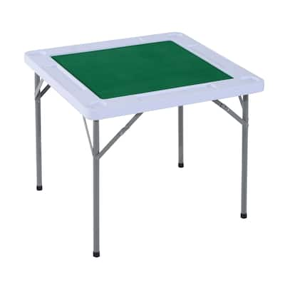 HomCom Folding Card Table with Cupholders