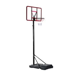 Aosom Clear Backboard Height Adjustable Portable Basketball Hoop