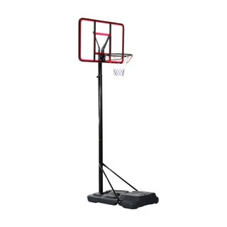 Aosom Clear Backboard Height Adjustable Portable Basketball Hoop