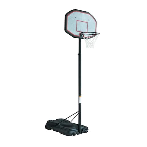 Aosom Backboard Height Adjustable Portable Basketball Hoop System