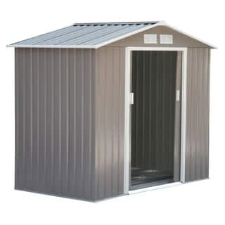 Outsunny Outdoor Metal Garden Storage Shed|https://ak1.ostkcdn.com/images/products/18041509/P24207135.jpg?impolicy=medium