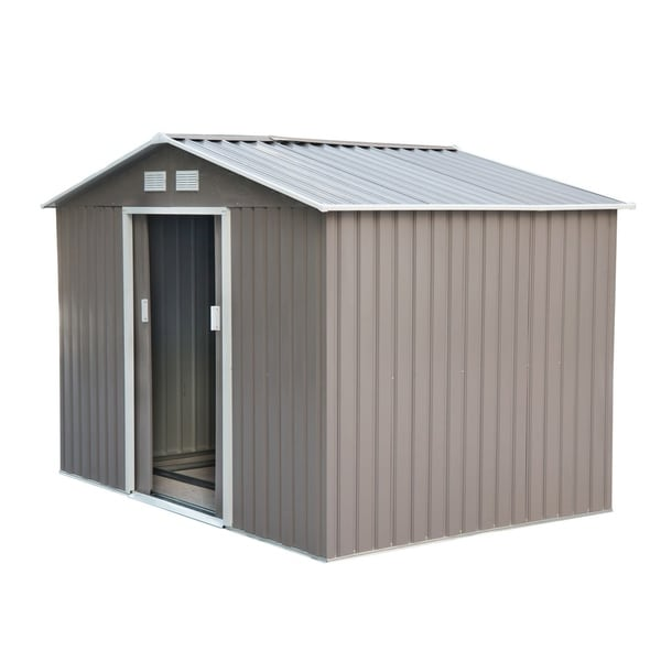 Superbe Outsunny Outdoor Metal Garden Storage Shed