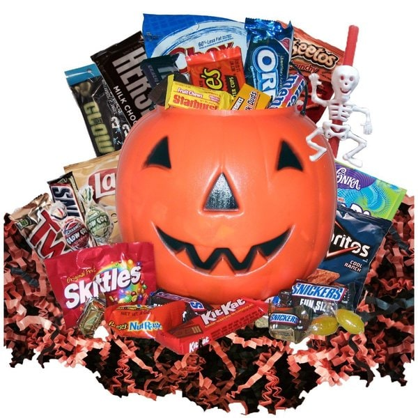 Shop Pumpkin Party Halloween Gift Basket - Free Shipping On Orders Over $45 - Overstock.com - 18041527