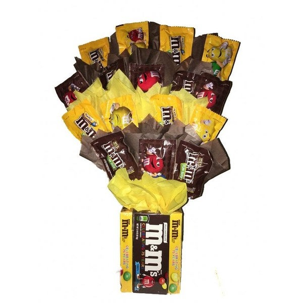 Shop M&M Candy Bouquet - Free Shipping On Orders Over $45 - Overstock - 18041535