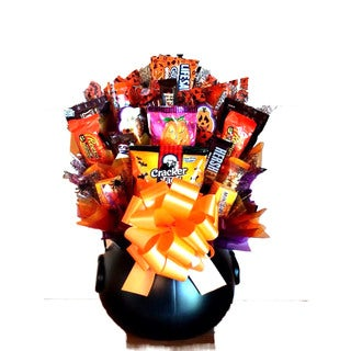 Delectable Witches Brew cauldron Candy Bouquet