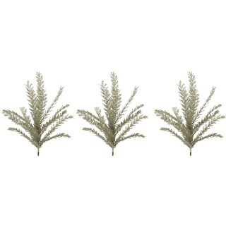 23H Inches Glitter Filigree Leaf Spray Christmas Decor