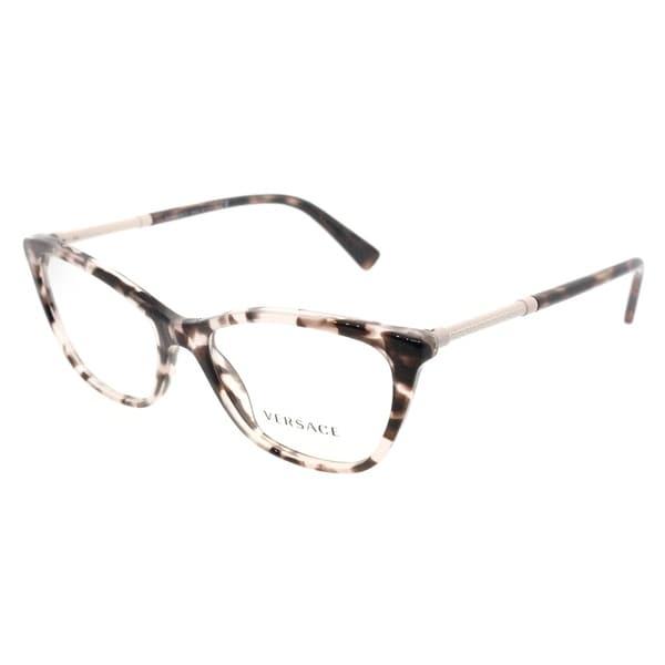 Shop Versace Cat Eye VE 3248 5253 Womens Pink Havana Frame ...
