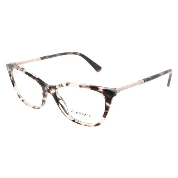 35631823e14a1 Versace Cat Eye VE 3248 5253 Womens Pink Havana Frame Eyeglasses