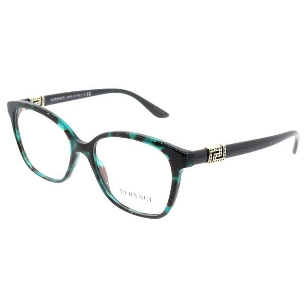 9dca65775cec Versace Square VE 3235B 5076 Womens Green Havana Frame Eyeglasses