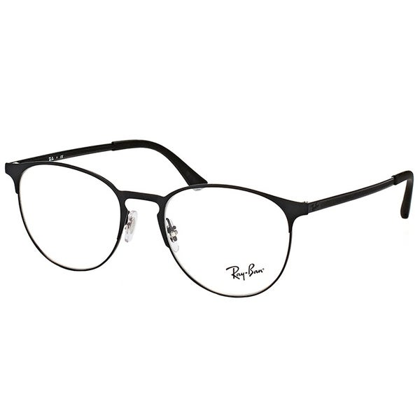 0abc299b65 Ray-Ban Round RX 6375 2944 Unisex Black On Matte Black Frame Eyeglasses