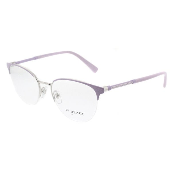4059220fc58f Shop Versace Round VE 1247 1000 Womens Lilac Silver Frame Eyeglasses ...