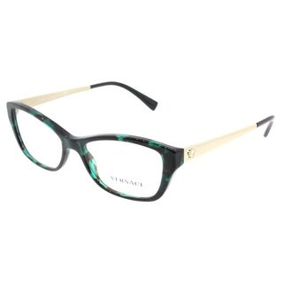 Versace Cat Eye VE 3236 5076 Womens Green Havana Frame Eyeglasses
