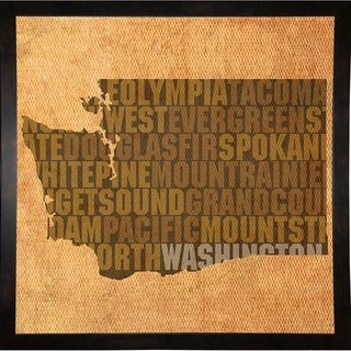 """Virginia State Words Framed Print 11.75""""x11.75"""" by David Bowman"""