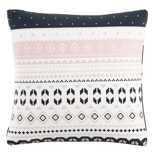 Skyline Pillow in Nordic Sweater Navy Blush 20x20