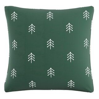 Skyline Pillow in Line Tree 20x20