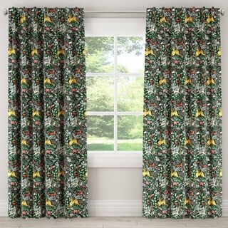 Skyline Frolic Evergreen Window Curtain Panel