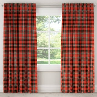 Skyline Plaid Window Curtain Panel
