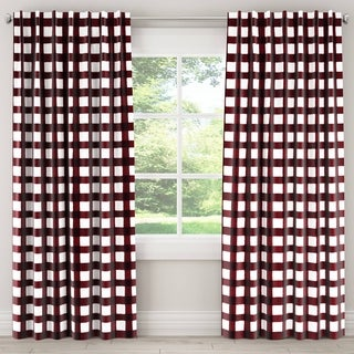 Skyline Plaid Blackout Window Curtain Panel