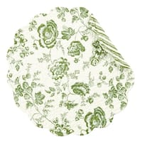 Devon Moss Round Quilted Placemat Set of 6